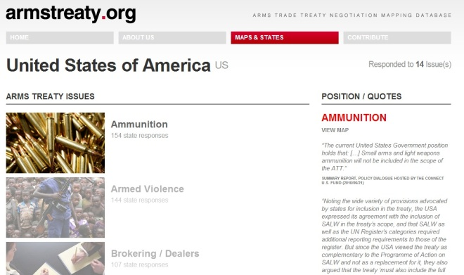 armstreaty.org country page