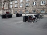 Probably the most designer cycle parking in the world.