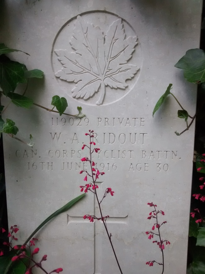 Private W.A. Ridout