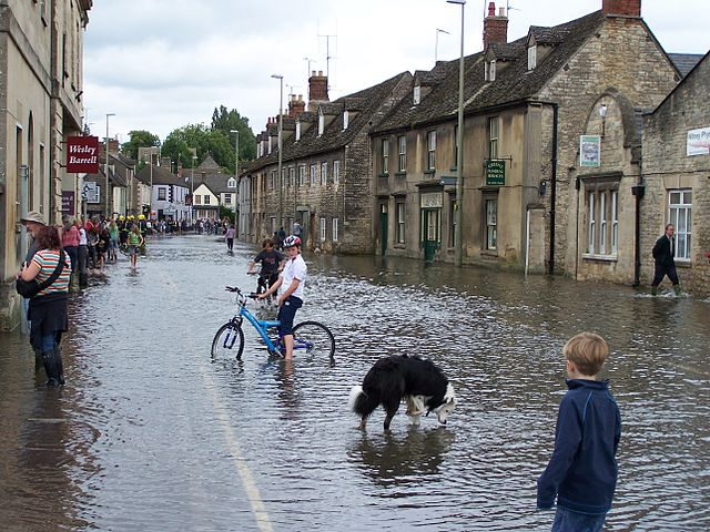 Witney, a bit flooded