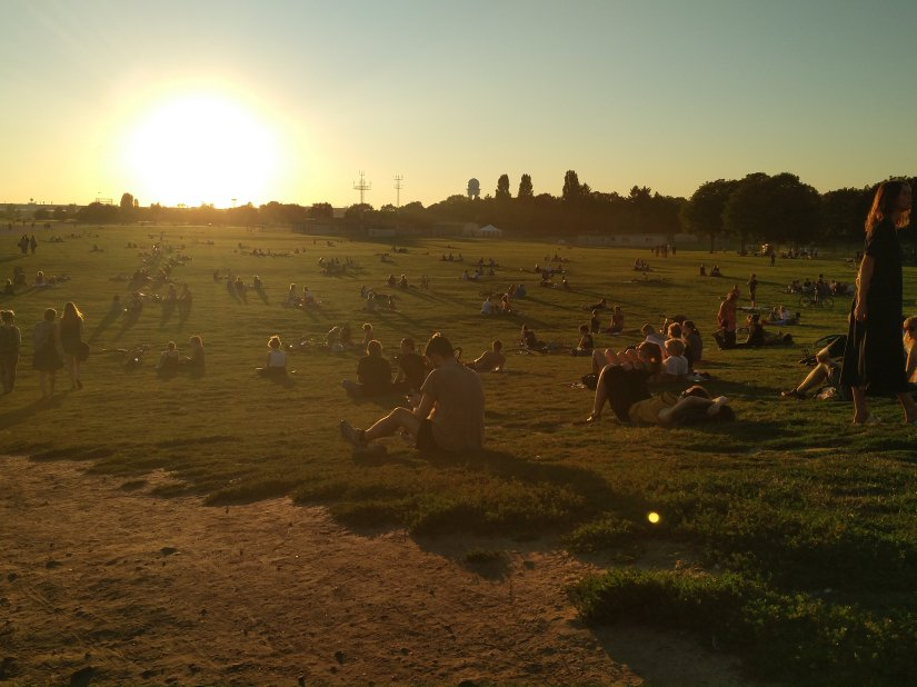 Sunny evening in Berlin